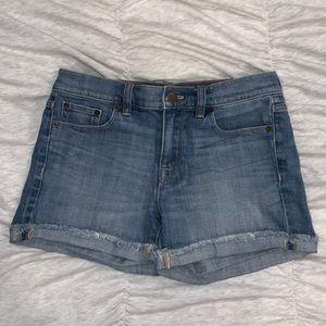 J. Crew Midi Jean Shorts